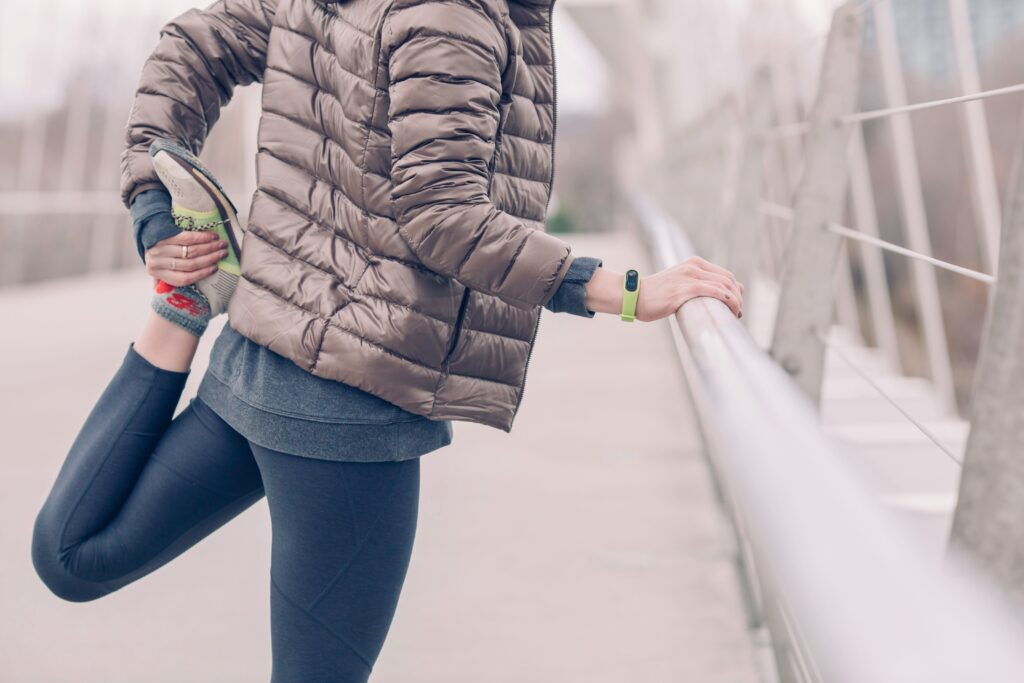 Remember to stretch before a run!