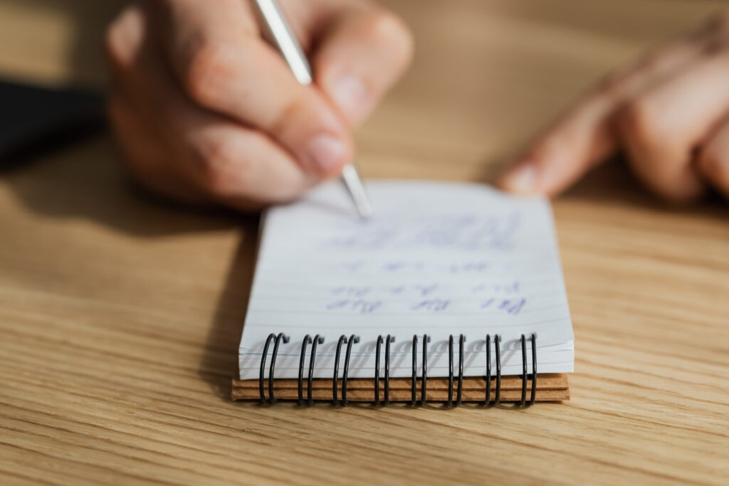 Get a little notepad to write down all those smart things in your head!