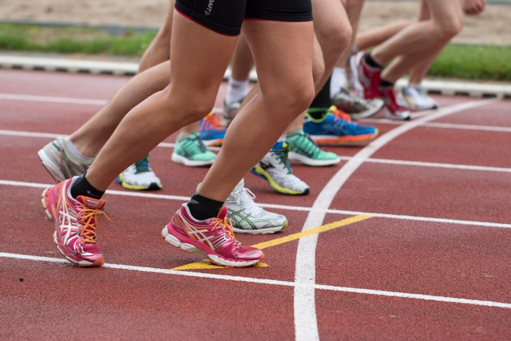 An image of runners on a track