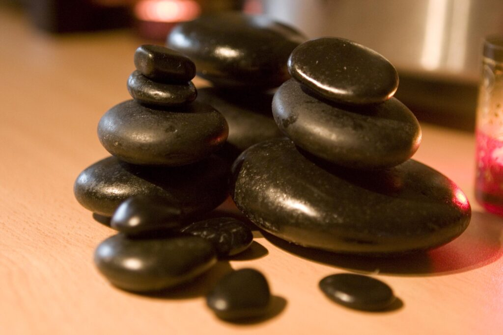 An image of hot stones